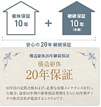 構造躯体10年保証+10年継続保証(有償)