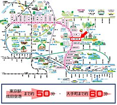 新京成線新津田沼駅からJRへの乗換が便利です