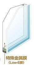 Low-E複層ガラス概念図