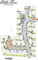 クルドサックを中心とした1街区区割り
