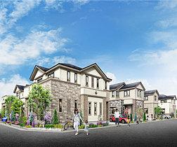 白を基調に洗練された美しい全12邸の街並み