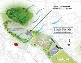 公園からの風と自然を取り入れた計画。