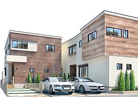 都市の注文住宅を思わせるスタイリッシュな外観デザイン