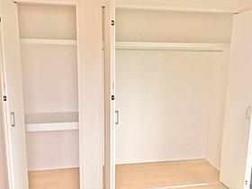 【4号棟・収納】各部屋、たっぷりとした収納スペースを設置。