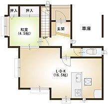 ■8号棟の1階の間取です。LDKは16.5帖あります。