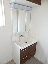 洗面化粧台アッパーキャビネット付(施工例)