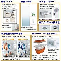 ◆浴室仕様…浴室換気暖房乾燥機付!ステップ付バスで半身浴も!