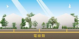 ◆電線類地中化:大きな空が広がる街へ