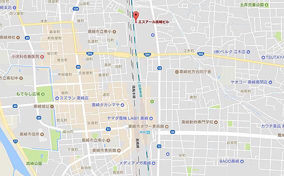 マンション(建物全部)-高崎市江木町 周辺地図