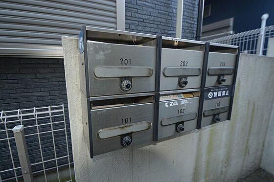 アパート-横浜市西区久保町 白基調のお洒落な玄関ドア