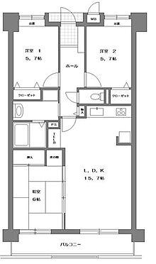 マンション(建物一部)-下関市みもすそ川町 間取り