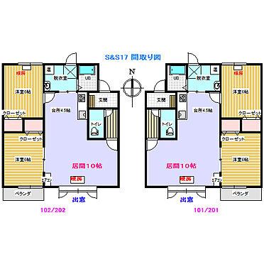 アパート-帯広市西十七条南5丁目 S&S17 間取り図