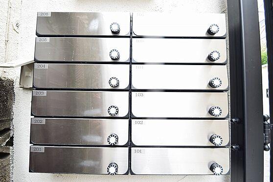 アパート-新宿区若葉1丁目 人気のダイヤル錠付きの集合ポスト。