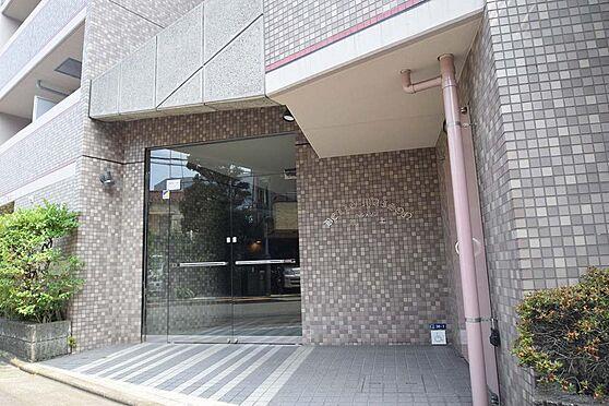 アパート-大田区池上3丁目 落ち着いた色合いで爽やかなエントランスドア。