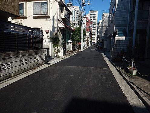 アパート-新宿区若葉1丁目 前面道路です。