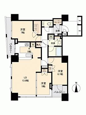 マンション(建物一部)-新宿区舟町 間取り