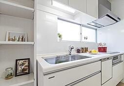 新品のシステムキッチン(パントリー棚・食洗器付き)