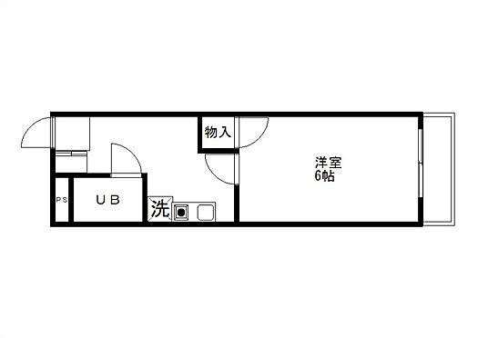 マンション(建物全部)-佐野市朝日町 1K