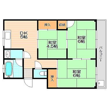 アパート-松阪市清生町 続き間の和室は空間を広く使う事もできる汎用性の高い間取り。