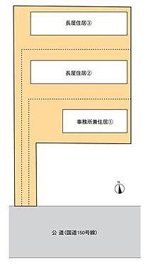 店舗事務所(建物全部)-袋井市湊 区画図