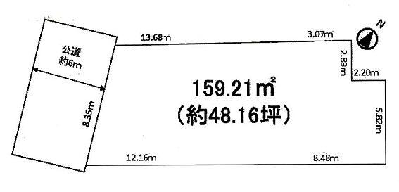 土地-大田区鵜の木3丁目 区画図