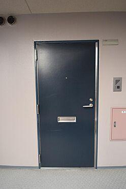 アパート-大田区池上3丁目 落ち着いた色合いの玄関ドア。