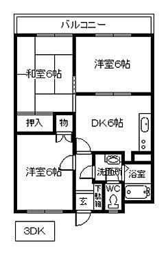 アパート-下関市彦島角倉町2丁目 間取り