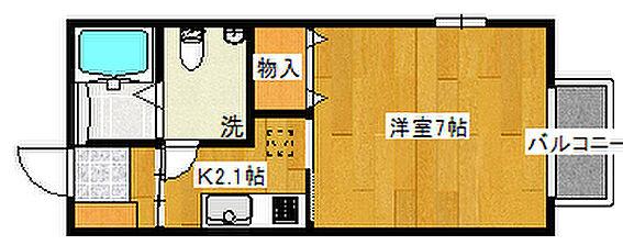 アパート-仙台市青葉区堤町3丁目 103号室間取り