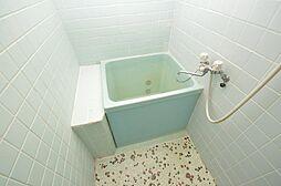 タイル調の床・壁が特徴的。