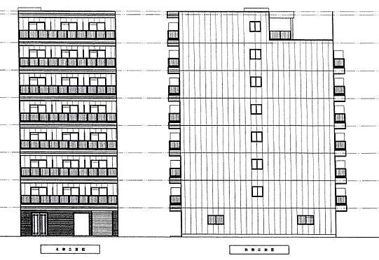 土地-大阪市東住吉区駒川2丁目 建物予想立面図