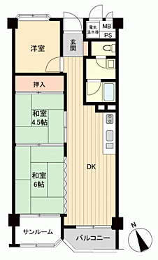 マンション(建物一部)-広島市西区己斐本町1丁目 間取り