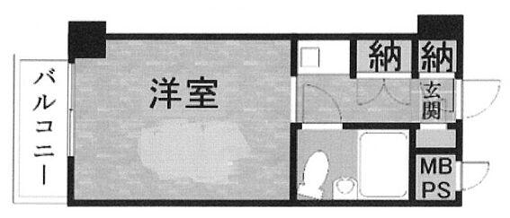 マンション(建物一部)-八王子市暁町1丁目 間取り