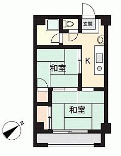 マンション(建物一部)-広島市西区南観音4丁目 間取り