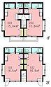 都営大江戸線「新江古田」駅 一棟売アパート 間取り図