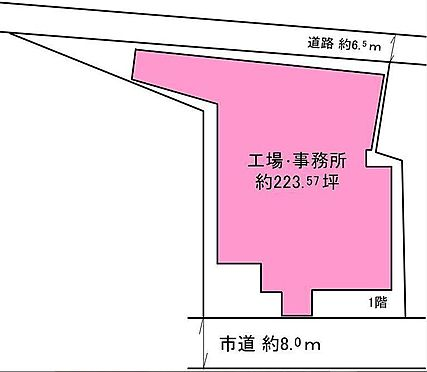 工場-堺市美原区太井 区画図