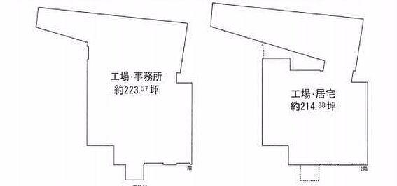 工場-堺市美原区太井 間取り