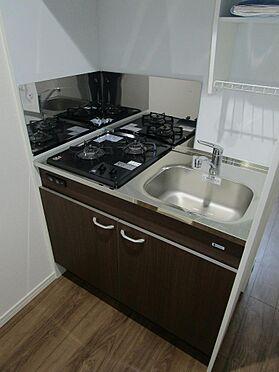 アパート-大田区大森北3丁目 キッチンは料理がはかどる2口コンロ