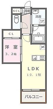 マンション(建物全部)-福岡市中央区今川1丁目 1LDKタイプ 4号室(カウンターキッチン)