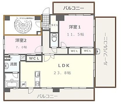 マンション(建物全部)-福岡市中央区今川1丁目 7F 専用フロア(屋上も専用スペースとなります)