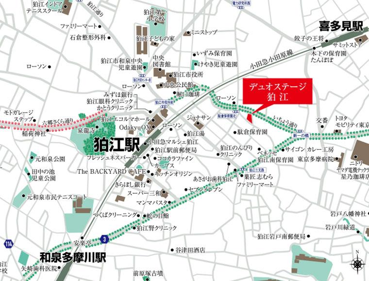 デュオステージ狛江:案内図