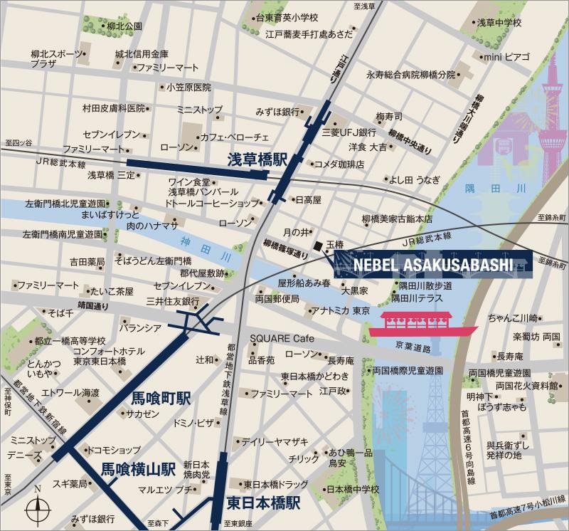 (仮称)ネベル浅草橋:案内図