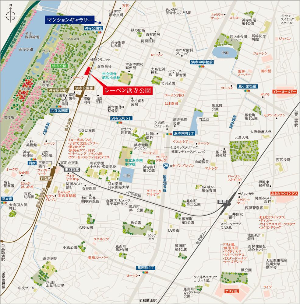 レーベン浜寺公園:案内図