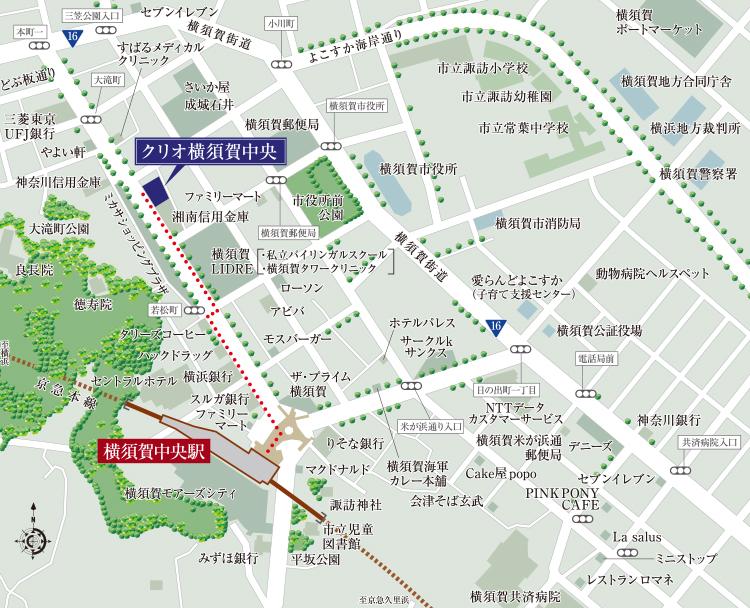 クリオ横須賀中央:案内図