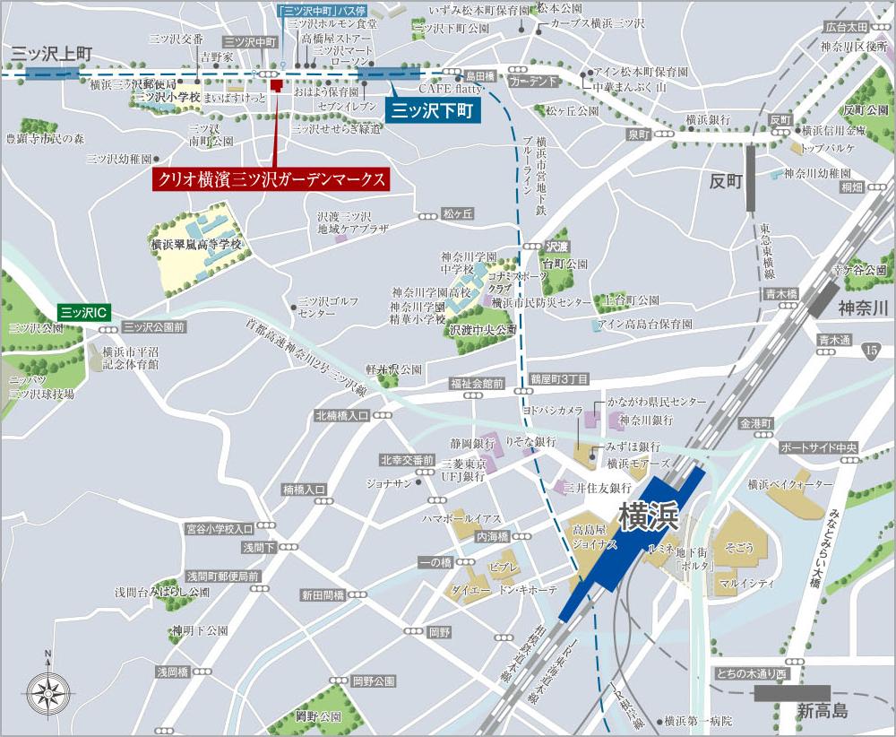 クリオ横濱三ツ沢ガーデンマークス:案内図
