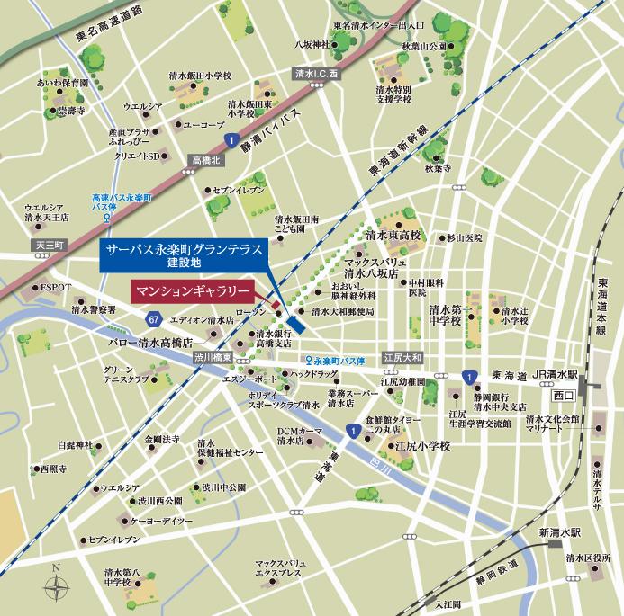 サーパス永楽町グランテラス:モデルルーム地図