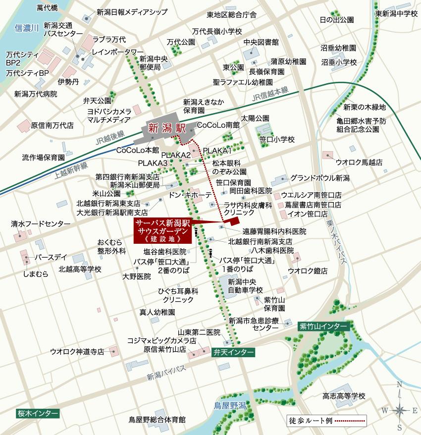 サーパス新潟駅サウスガーデン:案内図