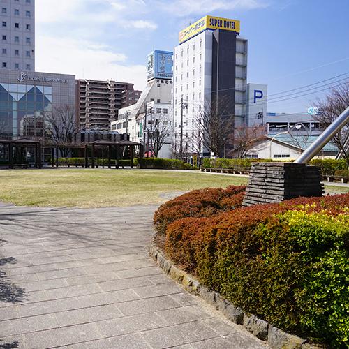 松本駅前記念公園 約150m(徒歩2分)