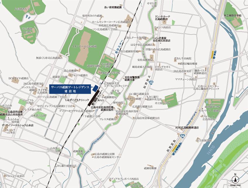 サーパス祇園ゲートレジデンス:案内図