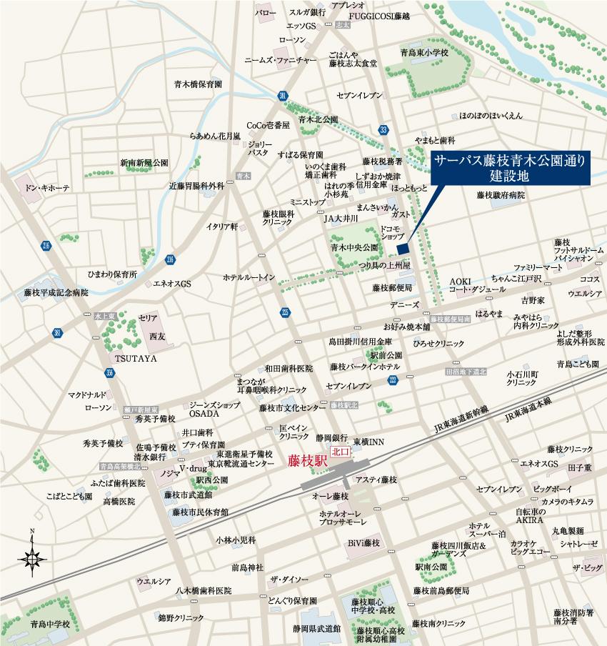 サーパス藤枝青木公園通り:案内図