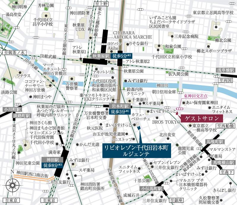 リビオレゾン千代田岩本町ルジェンテ:案内図